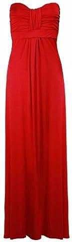 Purple Hanger Women's Bandeau Casual Dress 20 / 22 Red