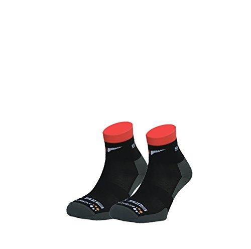 SUNKAA Herren Cycling Socken, Schwarz, XL
