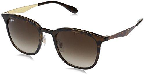 Ray-Ban Rayban Unisex-Erwachsene Sonnenbrille 4278 Matte Havana/Browngradient, 51