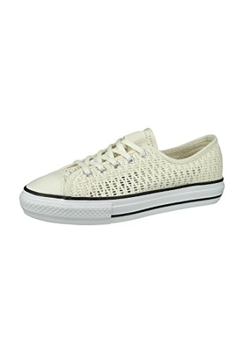 Converse Mandrini Dainty 551545C All Star Highline Beige Airone Bianco Nero Egret White Black