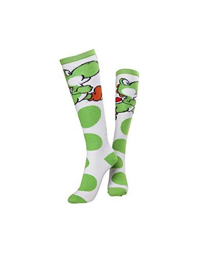Yoshi Socken Nintendo kniehohe Socken (große Größe) für Erwachsene & Jugendliche...