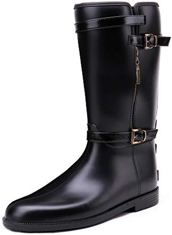 e1097f0c21 Chaussures de pluie antidérapantes Bottes d'automne d'automne  d'automne femmes avec fermeture à glissière bottes de pluie  chaussures.
