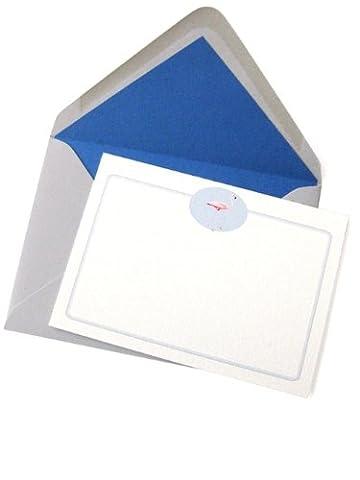 Tartan & Zebra 10 Correspondence cards with flamingo motif