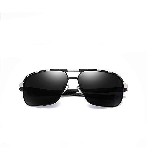 WULE-RYP Polarisierte Sonnenbrille mit UV-Schutz Herren Outdoor Angeln Fahren Gläser, polarisierte Sonnenbrillen, internen blauen Film. Superleichtes Rahmen-Fischen, das Golf fährt (Farbe : Silver)