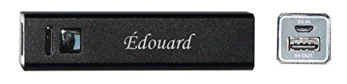 Chargeur de téléphone portable USB batterie 2200 mAh avec le prénom: Édouard (Noms/Prénoms)