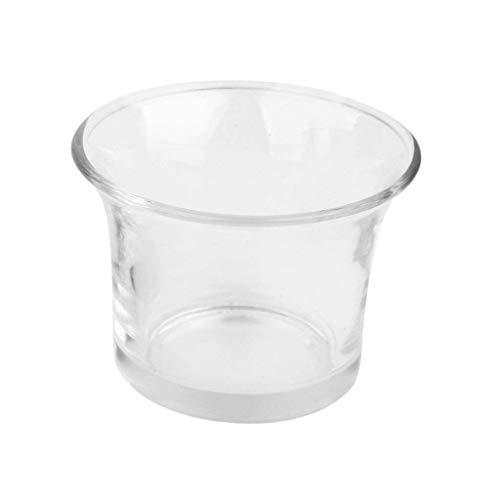 Sungpunet Transparent Romantisches Kerzenhalter Glas Kerzenbecher Duftkerze Wind Beweis Kerzen für Hochzeiten, Hauptdekorationen, Feiertage und Feste
