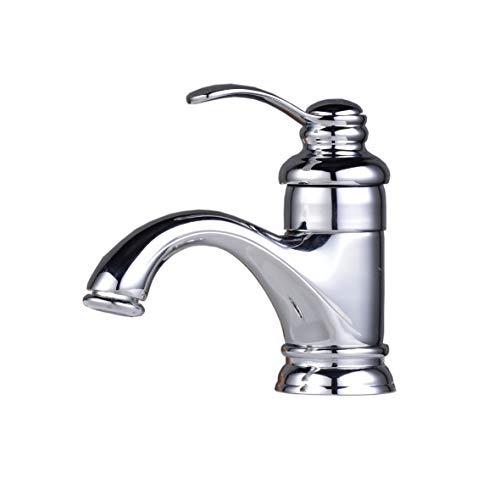 Hiendure® Latón montadas en cubierta baño grifo grifería de lavabo fregadero grifos mezcladores una sola palanca, cromado