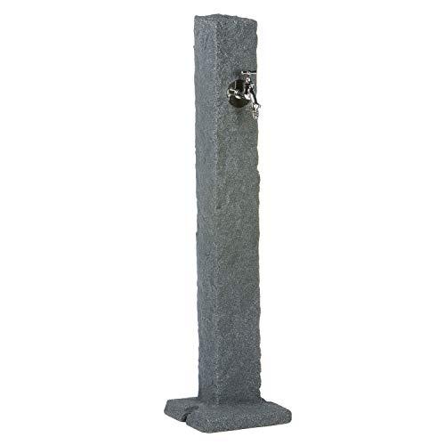 Wasserzapfstelle granitfarben-schwarz