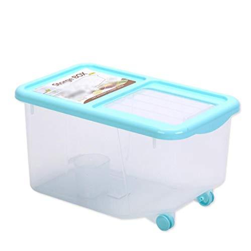 PFSYR Home Küche Storager Double Sealed Reis Eimer Küche Korntank große Kapazitäts-Reis Barrel Geeignet for Arten der Küche Storage (Color : Blue, Size : 6.5kg)