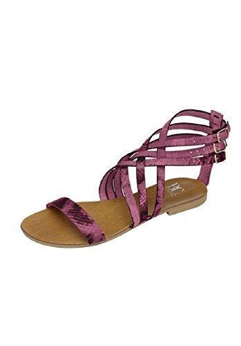 Sandalette aus Nappaleder von Best Connections - Beere Gr. 35