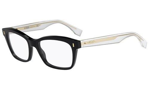 c6f5dc6176551e Fendi Für Frau 0027 Fashion Colour Block Black   Crystal Kunststoffgestell  Brillen