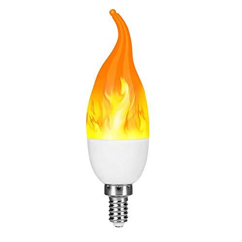 Faxiang 4 Modos E12 LED Efecto De Llama Bombilla Parpadeante