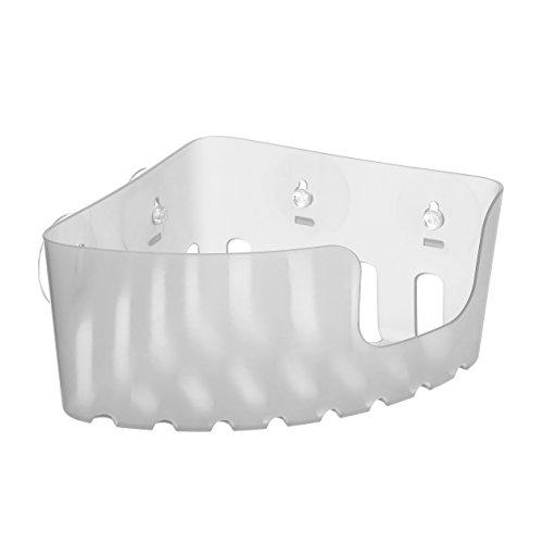 TATAY 4520302 - Cesta rinconera organizadora de ducha con ventosas, capacidad para 2 kg, Plástico Polipropileno, Color glacé, 20.5x20.5x11 cm