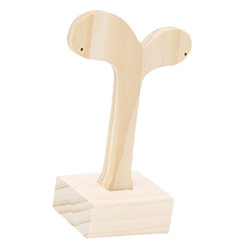 Magideal torre in legno naturale da tavolo in legno espositori porta oggetti orologio gioielli - piccolo