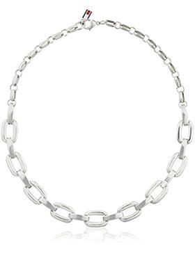 Tommy Hilfiger Damen-Kette ohne Anhänger 925 Silber Emaille 49 cm-2700833