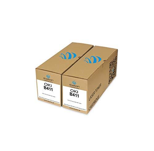 2X B411 Schwarz Toner 44574702 kompatibel zu Oki B411 B431 B431dn MB461 MB471 MB491