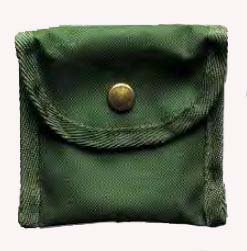 Linder Nylon Étui universel, vert foncé, 70 x 65 x 35 mm