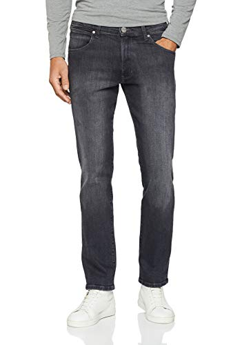 Arizona-schwarz-denim (Wrangler Hombre ARIZONA-W12OKQ34A Jeans, Schwarz (Black Angle 34a), 34W / 32L)