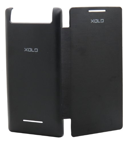 Snooky Black Flip Cover Case Back For Xolo A500s Td8136