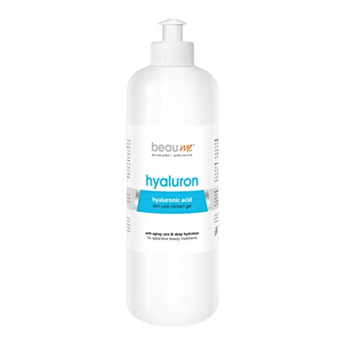 BEAUME HYALURON pflegendes und befeuchtendes Ultraschallgel mit niedermolekularer Hyaluronsäure für apparative Anti-Aging Beauty-Behandlungen, Größe:500ml