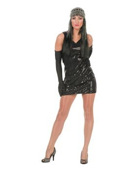 Wilbers SALE Damen-Kostüm Paillettenkleid schwarz Gr. -