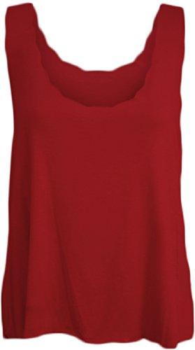 Fashion 4 Less Damen Top Rot