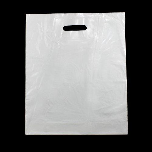 Tüte, Tragetasche,50 Grifflochtaschen, weiss,380 x 450 + 50 mm Bodenfalte (Tragetasche Weiße)