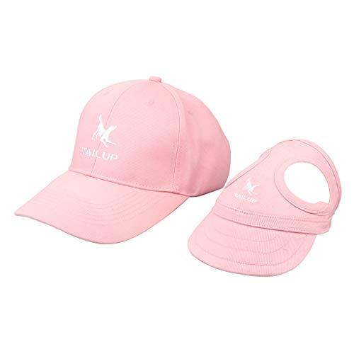 non-brand Homyl Unisex Baseball Cap mit Hunde Baseballmütze Basecap Hundecap für Züchter und Hunde - Rosa, L