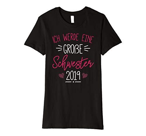Ich Werde Große Schwester T-Shirt 2019 Schwangerschaft