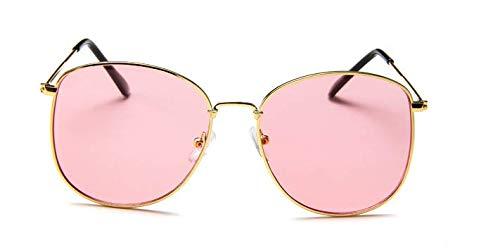 DIIYer-Bu Retro Metall Sonnenbrille Fashion Vintage Sonnenbrille Transparent Ocean Sheet Glasses Anti-UV