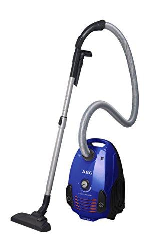 AEG PowerForce Parketto - Aspirador con bolsa AAA con cepillo especial para parquet, color azul