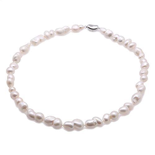 jyx barock perlenkette weiß Barock-Süßwasser perlen Halskette Perlen Barock