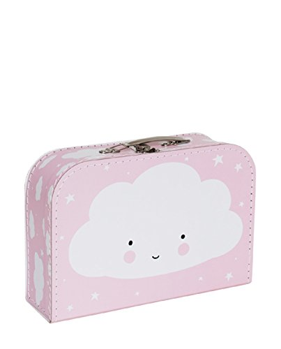 A Little Lovely Company - Koffer - Kinderkoffer - pink - Wolke 30 x 20,5 x 9 cm