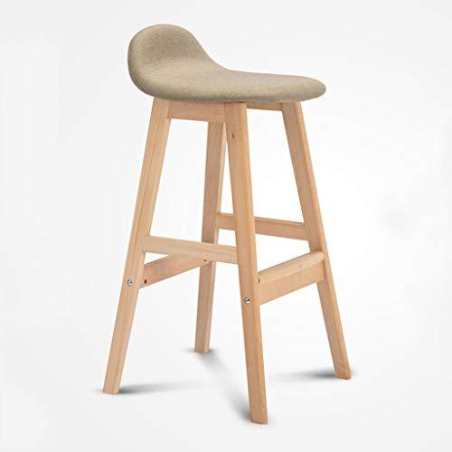 Stuhl Barhocker Massivholz Barhocker Modernen Minimalistischen Stoff Stuhl Hohe Hocker Nach Hause Holzrahmen Stuhl Bar Tisch Und Stuhl Solide Und Langlebig Sitzhöhe 68cm mit Rückenlehnen Armlehnen und -