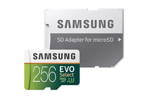 Samsung EVO Select - Tarjeta de Memoria microSDXC de 256 GB con Adaptador SD, 100 MB/s,...