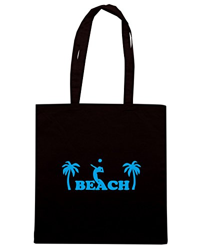 T-Shirtshock - Borsa Shopping SP0039 Beach Volleyball Maglietta Nero