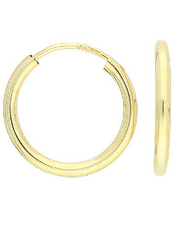 MyGold Damen Creolen Ohrringe Gelbgold 585 Gold (14 Karat) Ø 20mm Breite 2,5mm Glanz Ohne Steine Goldcreolen Goldohrringe Geschenke Für Frauen Pretty Celine C-02335-G401-20mm/2,5mm