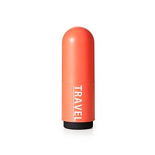 Reise tragbare Multifunktions kugelförmigen Waschbecher Becher Becher Zahnbürste Zahnpasta Aufbewahrungsbox Zahnbürste Rohr orange rot - Orangen-espresso-tasse