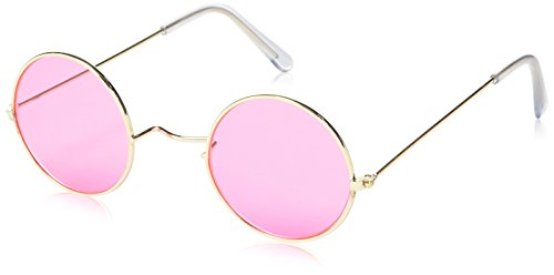 Laugh And Confetti–fiehip026Accessory for Fancy Dress Accessory Set–Hippie Glasses + Pendant Set with Headband