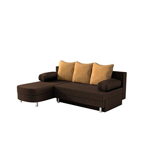 Ecksofa Margot Lux, Polsterecke mit Schlaffunktion und Bettkasten, Wohnlandschaft L-Form Couch, Ottomane Universal, Couchgarnitur, Eckcouch vom Hersteller (Lux 12 + Lux 09)