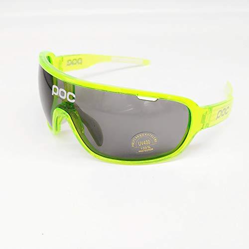 ZllSports Radfahren Poc Brille mit Angeln polarisierte Sonnenbrille für Unisex Kommt mit 2 Sets Wechselgläser Sportwindschutzbrille,1