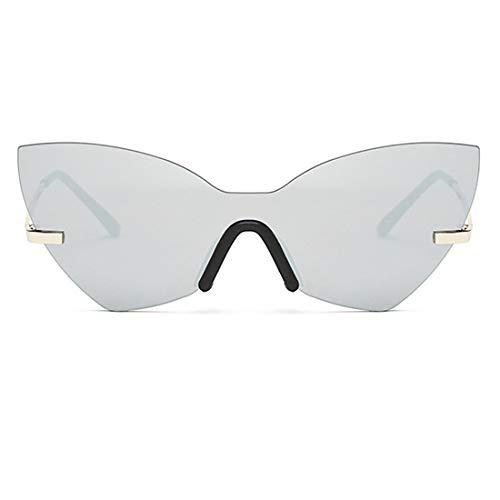 Lvminhm Retro Frame Cat Eye Sonnenbrille Frauen Design Spiegel Objektiv Cat Eye,whitemercury