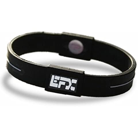 Efx - Bracciale de sport silicone, 20 centimetri, taglia 7, nero - Nero Gioielli Silicone