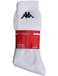 KAPPA Herren Sportsocken Baumwolle Weiß Größe 43-46, 6 Paar