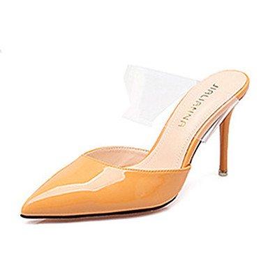 Moda Donna Sandali Sexy donna caduta tacchi Comfort brevetto Casual in pelle Stiletto Heel altri Nero / Giallo / rosa / rosso / grigio altri Yellow