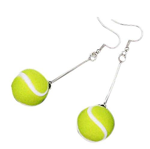 Ensemble de 2 boucles d'oreilles intéressantes style sport Boucles d'oreilles élégantes, tennis
