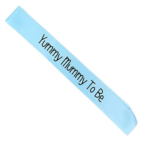 t Schwangere Mutter Will blau köstlich Mami Gürtel Baby Dusche Junge Mädchen Parteidekoration Gnade Geschenk Schwangerschaft Mutter Mutter Schwangerschaft Ankündigung (blau) ()
