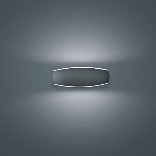 Helestra LED Außenwandleuchte Sea Graphit IP54 | LEDs fest verbaut 9W 810lm warmweiß | A18601.93