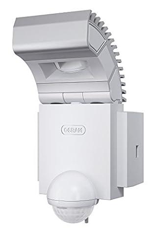 Osram LED-Spot, Noxlite, Außenlampe, Außenstrahler 60° schwenkbar und 70 ° kippbar, Bewegungsmelder, Dämmerungssensor, weiß, Kaltweiß - 6000K