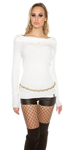 In-Stylefashion - Pull - Femme blanc Weiß taille unique Weiß
